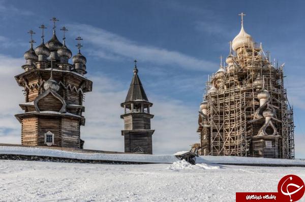کلیساهای چوبی جزیره کیژی روسیه +عکس