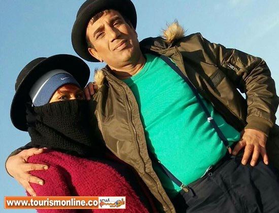 پوشش عجیب همسر دوم نصرالله رادش