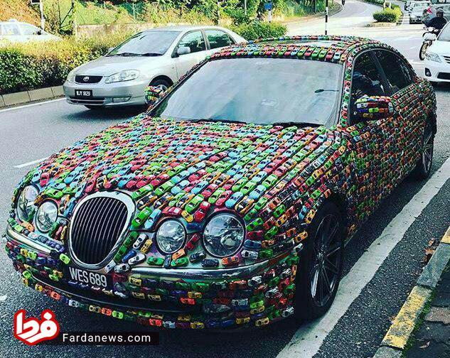 عجیبترین روش برای تزئین ماشین