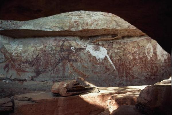 نقاشی زیر خاکی در استرالیا با قدمت ۲۰ هزار ساله