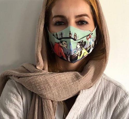 ماسک متفاوت شقایق دهقان +عکس