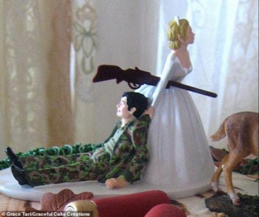 کیک عروسی در آمریکا جنجالآفرین شد+ عکس