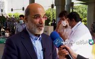 رئیس رسانه ملی با حضور در محوطه جام جم رای خود را در صندوق های رای انداخت