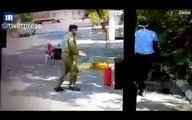 فیلم: لحظه آتش گرفتن موتور و موتورسوار هنگام ضدعفونی شدن!