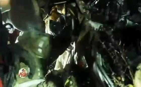نجات معجزه آسای مرد ۳۲ ساله از پراید مچاله شده +فیلم